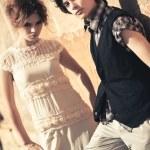 Young couple fashion — Stock Photo