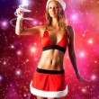 Young sexy woman in santa clothing — Stock Photo #1372862