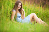 Young woman resting — Stock Photo