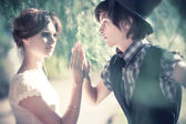 Young romantic couple portrait — Stock Photo