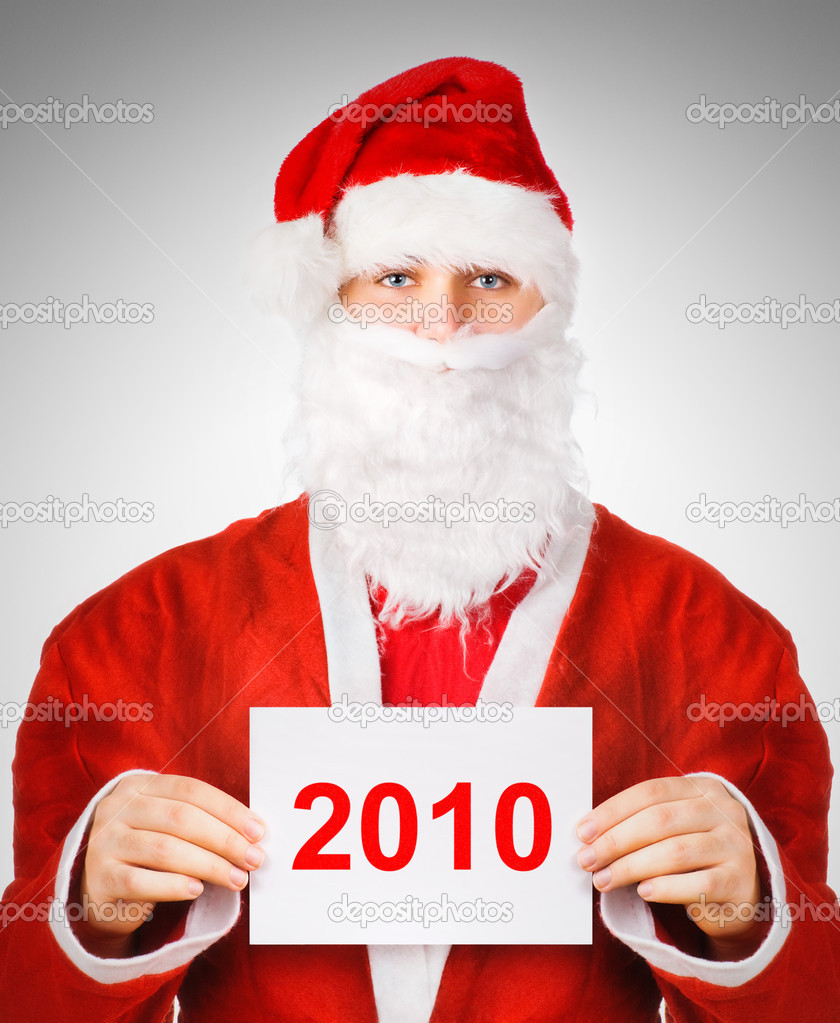 Santa Claus 2010 concept portrait. — Stock Photo #1372860