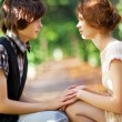 Young romantic couple — Stock Photo
