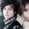 Young couple portrait - Stock Photo
