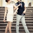Young elegant couple — Stock fotografie #1395366