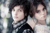 Young couple portrait — Stock Photo