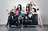 Six women team — Stock Photo