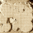 Cement blasted tile - Stock Photo