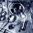 Wash up with blue tint — Stock Photo