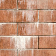Brick with stains — Stock Photo