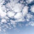 Royalty-Free Stock Photo: Contrast fleecy clouds