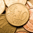 Euro cent coin macro - Stock Photo