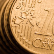 Euro cent coin macro — Stock Photo