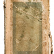 Stock Photo: Very old tattered book on white