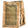 Very old tattered book with pages — Stock Photo
