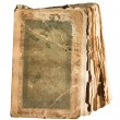 Stock Photo: Very old tattered book with pages