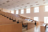 Big empty modern lecture hall — Stock Photo