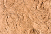 Sand with footstep — Stock Photo