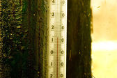 Outdoors thermometer close view — Stock Photo