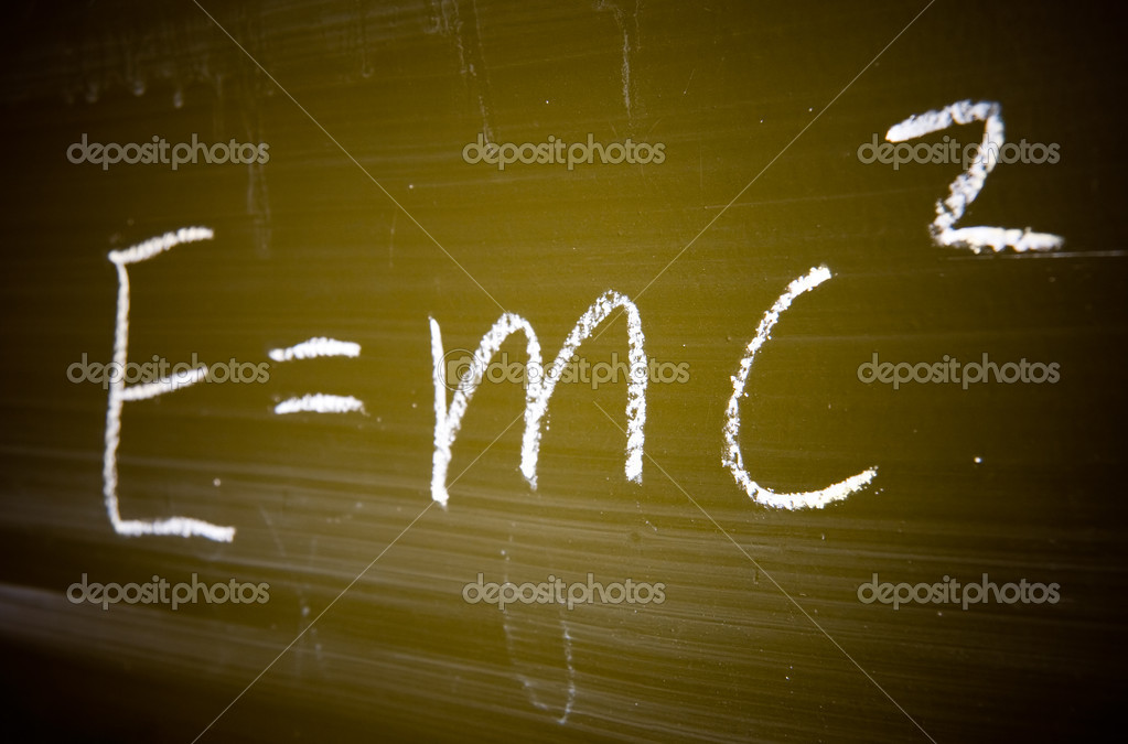 Well-known physical formula. Specialy computer modified to add dramatic and style. — Stock Photo #1634780