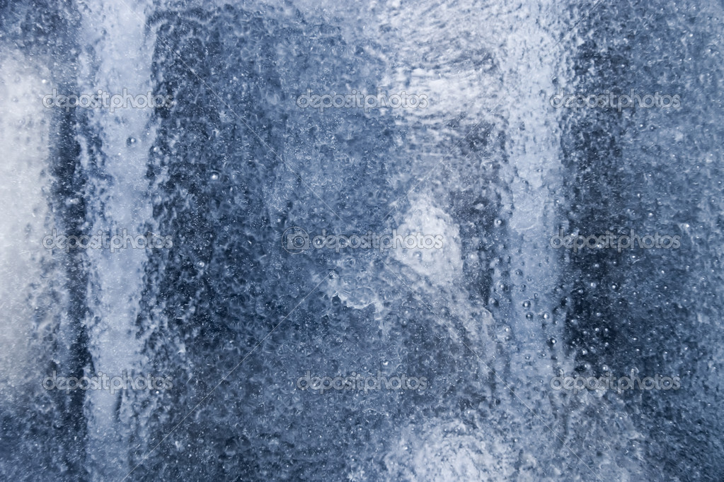 Frozen abstract background. Glass with blue tint. — Stock Photo #1634853