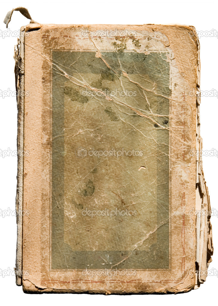 Very old tattered book on white. — Stok fotoğraf #1634982