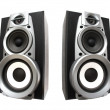 Stock Photo: Two great loud speakers