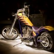 Stock Photo: Chopper motorcycle