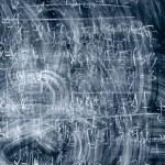 Dark blue blackboard — Stock Photo