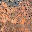 Rusty metal surface with cracky paint - Stock Photo