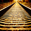 Railroad perspective — Foto de Stock