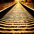 Railroad perspective - Stock Photo