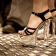 High heel side view - Stock Photo