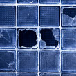 Glass with cracks — Stock Photo