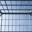 Glass roof of trade center — Stock Photo