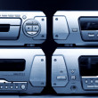 Stock Photo: Audio system blue tint