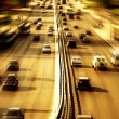 Highway with lots of cars — Stockfoto