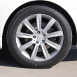 Car wheel front view - Stock Photo