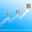 Growing income graph — Stock Photo