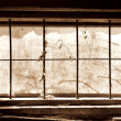 Stock Photo: Old window front view