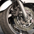 Sport motorcycle wheel — Stock Photo