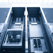 Lift in a business center — Stock fotografie