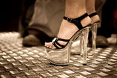 High heel side view — Stock Photo