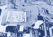 Computer chip perspective view — Stock Photo