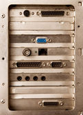 Back side of computer — Stock Photo