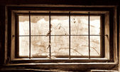 Old window front view — Stock Photo