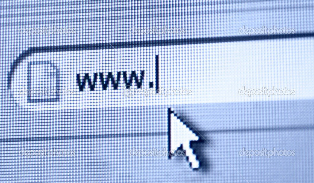 WWW dot. Macro photo from computer monitor. — Stock Photo #1651917