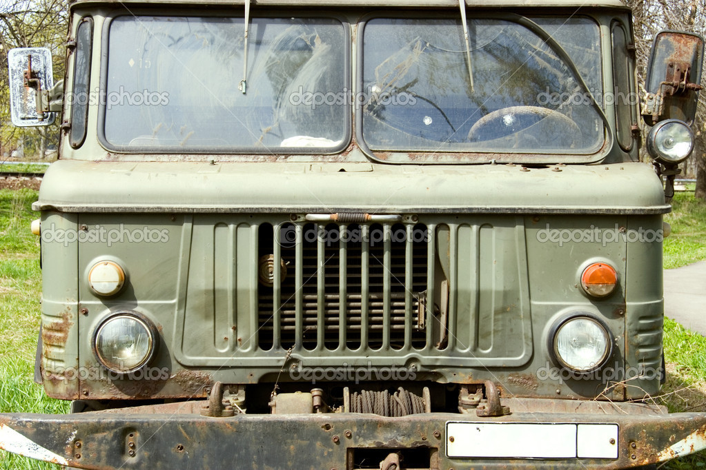 Old russian truck. Front view. — Stock Photo #1652003