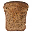 Slice of brown bread - Stock Photo
