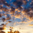 Contrast sunset clouds — Stock Photo