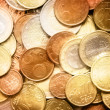 Glittering euro cent coins - Stock Photo
